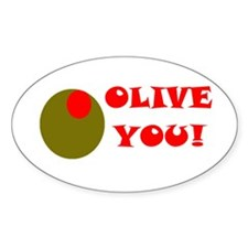 OLIVE YOU Oval Decal