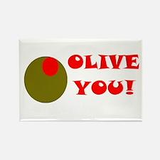 OLIVE YOU Rectangle Magnet (10 pack)