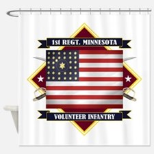 1st Minnesota Volunteer Infantry Shower Curtain