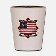 1st Minnesota Volunteer Infantry Shot Glass