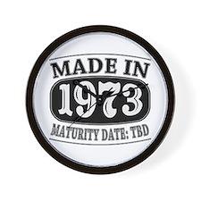 Made in 1973 - Maturity Date TDB Wall Clock