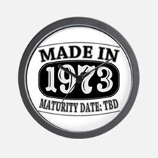 Made in 1973 - Maturity Date TDB Wall Clock