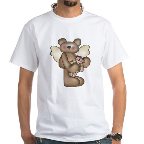 Angel Bear with Raggedy Doll White T-Shirt