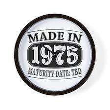 Made in 1975 - Maturity Date TDB Wall Clock