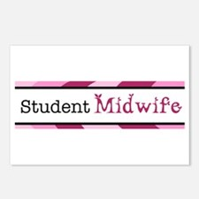 Plum Student Midwife Postcards (Package of 8)