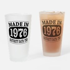Made in 1976 - Maturity Date TDB Drinking Glass