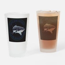 Fight For Sharks  Drinking Glass