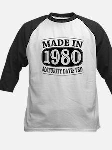 Made in 1980 - Maturity Date Kids Baseball Jersey