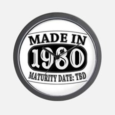 Made in 1980 - Maturity Date TDB Wall Clock
