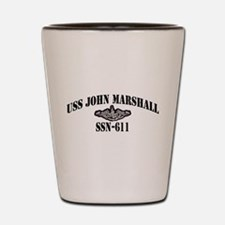 USS JOHN MARSHALL Shot Glass