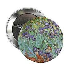 """Van Gogh Irises, Vintage P 2.25"""" Button (100 pack)"""