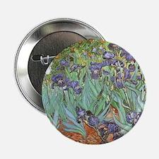 "Van Gogh Irises, Vintage Po 2.25"" Button (10 pack)"