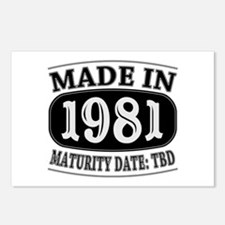 Made in 1981 - Maturity D Postcards (Package of 8)