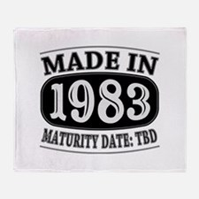 Made in 1983 - Maturity Date TDB Throw Blanket