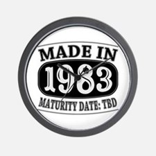 Made in 1983 - Maturity Date TDB Wall Clock