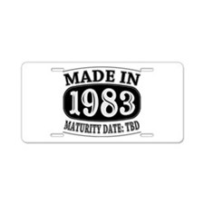 Made in 1983 - Maturity Dat Aluminum License Plate