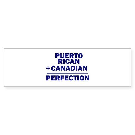 Canadian + Puerto Rican Bumper Sticker