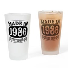 Made in 1986 - Maturity Date TDB Drinking Glass