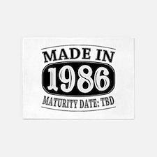 Made in 1986 - Maturity Date TDB 5'x7'Area Rug