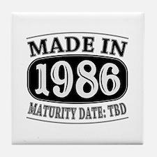 Made in 1986 - Maturity Date TDB Tile Coaster