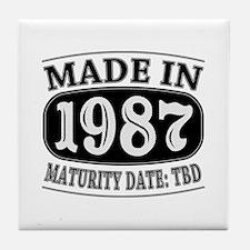 Made in 1987 - Maturity Date TDB Tile Coaster