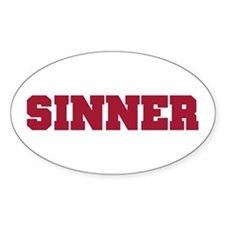 SINNER Oval Decal