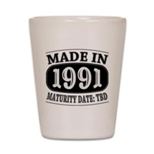 Made in 1991 - Maturity Date TDB Shot Glass