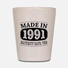 Made in 1991 - Maturity Date TDB Shot Glass