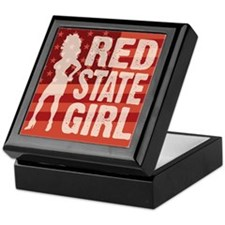 Red State Girl Keepsake Box