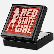 Red State Girl Keepsake Box