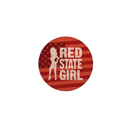 Red State Girl Mini Button