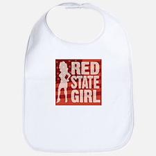 Red State Girl Bib