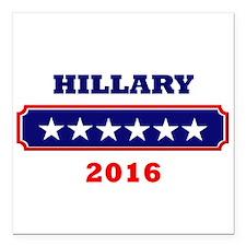 "Hillary 2016 Square Car Magnet 3"" x 3"""