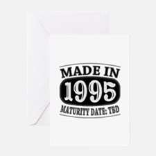 Made in 1995 - Maturity Date TDB Greeting Card