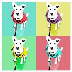 Dog Pop Art Warholesque Poster