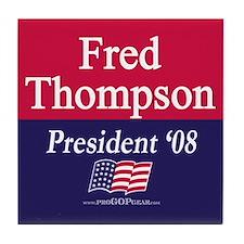 """""""Fred Thompson for President"""" Tile Coaster"""