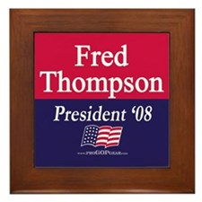 """""""Fred Thompson for President"""" Framed Tile"""