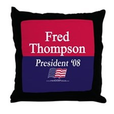 """Fred Thompson for President"" Throw Pillow"