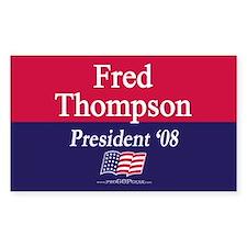 """""""Fred Thompson for President"""" Sticker (Rectangular"""