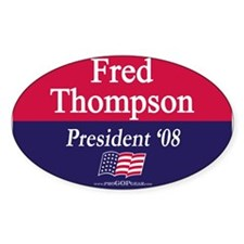 """Fred Thompson for President"" Oval Decal"