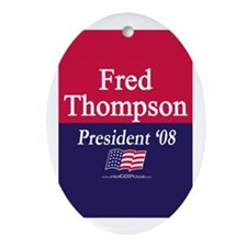 """Fred Thompson for President"" Oval Ornament"