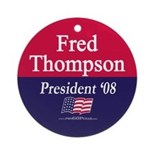 """""""Fred Thompson for President"""" Ornament (Round)"""