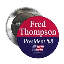 """""""Fred Thompson for President"""" Button"""