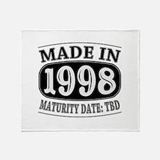 Made in 1998 - Maturity Date TDB Throw Blanket