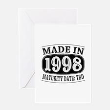 Made in 1998 - Maturity Date TDB Greeting Card