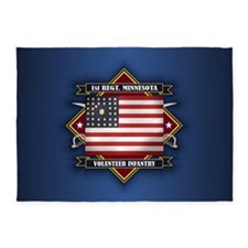 1st Minnesota Volunteer Infantry 5'x7'Area Rug