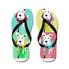 Dog Pop Art Warholesque Flip Flops