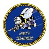 Navy seabee Round Car Magnets