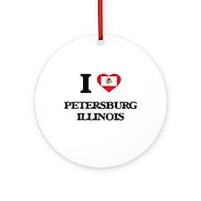 I love Petersburg Illinois Ornament (Round)