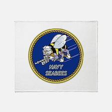 Cute Navy seabee Throw Blanket